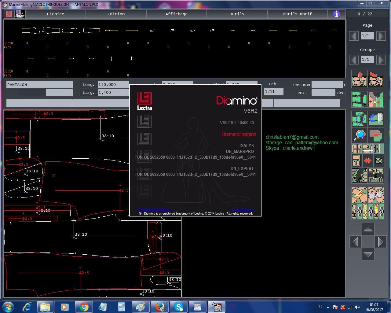 Lectra Modaris Expert V8R1SP8 + 3D Prototype + Diamino Fashion Expert V6R2 SP912+ JustPrint V2R3 Work all windows 32+64 Bits