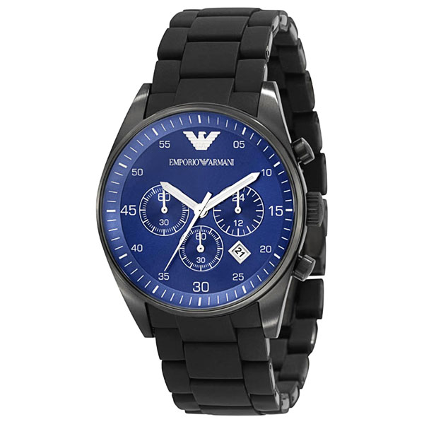 Testardo difetto Stabilire  Emporio Armani AR5921 Mens Blue Face Sportivo Chrongraph Watch