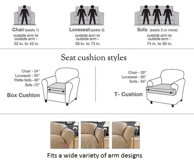 Tremendous Reclining Sofa Slipcover Cotton Taupe Sure Fit Dual Recliner Couch Inzonedesignstudio Interior Chair Design Inzonedesignstudiocom