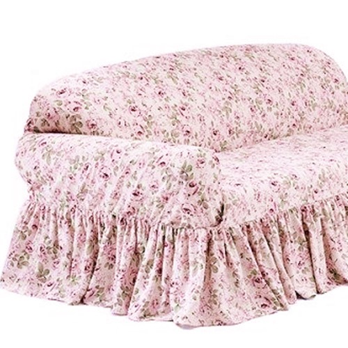 Awesome Rachel Ashwell Loveseat Slipcover Rosalie Pink Floral Shabby Chic Dailytribune Chair Design For Home Dailytribuneorg
