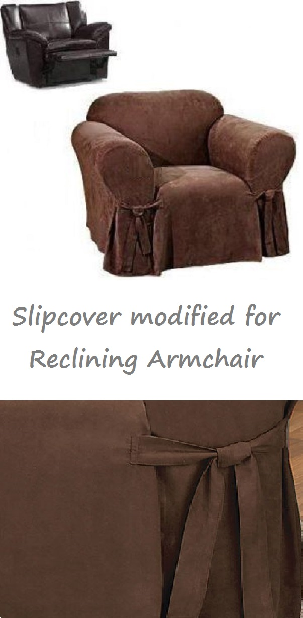 Marvelous Reclining Chair Slipcover Suede Chocolate Sure Fit Armchair Cover Ibusinesslaw Wood Chair Design Ideas Ibusinesslaworg