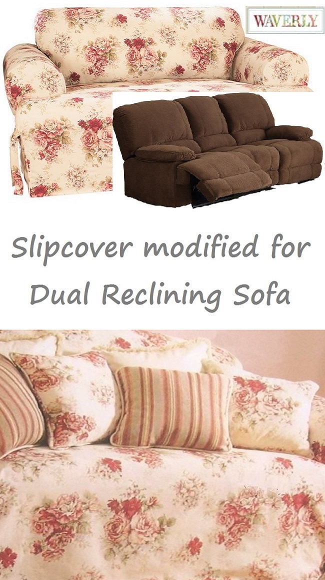 Strange Dual Reclining Sofa Slipcover T Cushion Waverly Vintage Rose Floral Andrewgaddart Wooden Chair Designs For Living Room Andrewgaddartcom