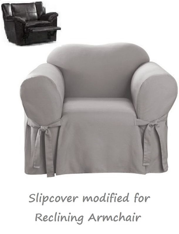 Cool Reclining Chair Slipcover Cotton Gray Sure Fit Armchair Grey Cover Ibusinesslaw Wood Chair Design Ideas Ibusinesslaworg