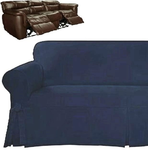 Prime Dual Reclining Sofa Slipcover Farmhouse Twill Navy Blue Sure Fit Couch Ibusinesslaw Wood Chair Design Ideas Ibusinesslaworg