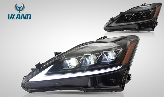 Headlights With Amber Reflector For Lexus Is250 Is350 Isf