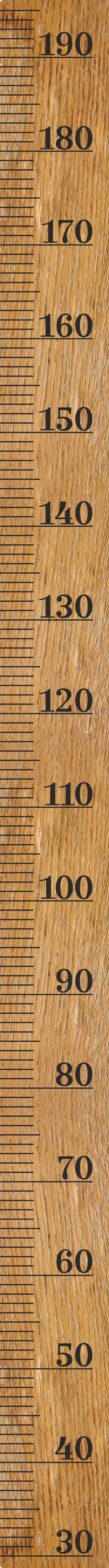 Fabristick Wooden Ruler Height Chart Wall Sticker