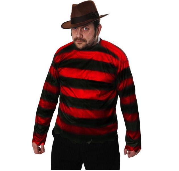 Red & Black Striped Jumper Freddy Krueger Style