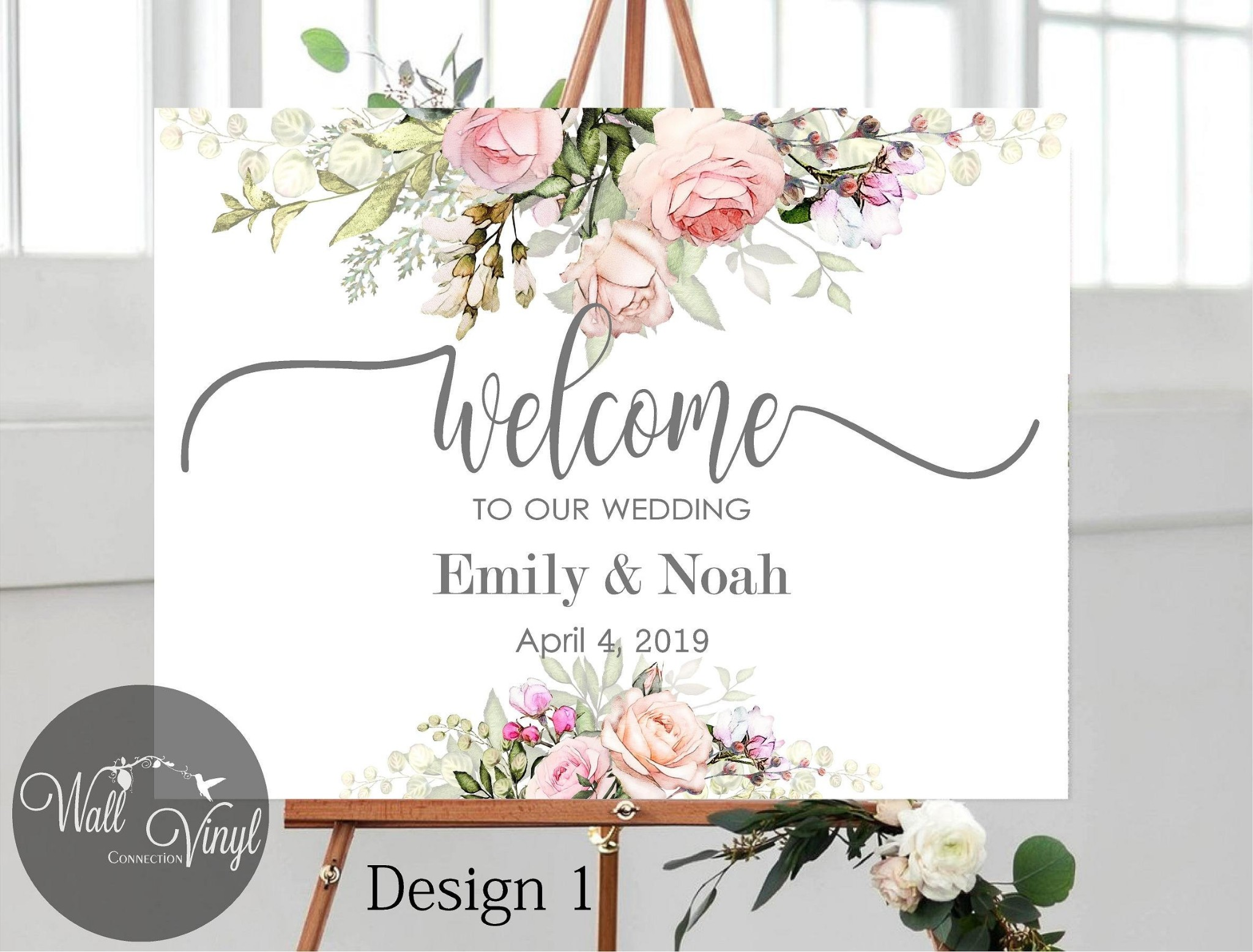 PVC Welcome to The Wedding, Welcome Wedding Signs