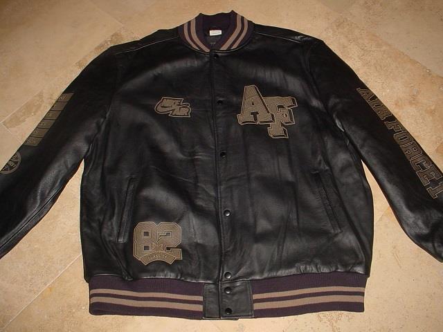 Nike AF1 Classic Bomber Leather Jacket