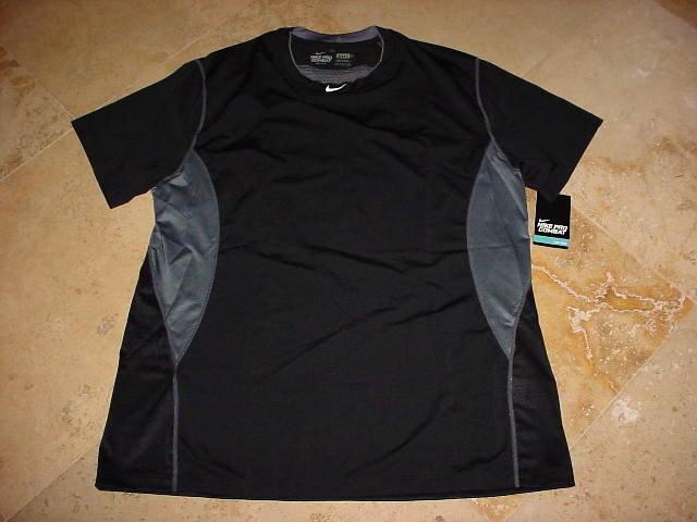retirarse lo hizo gobierno  Nike Pro Combat Dri-Fit Compression Shirt Black Gray 3XL