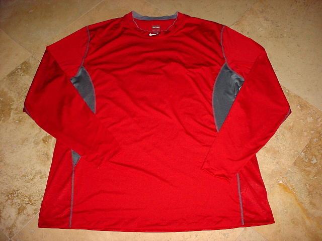 un poco Vinagre Modales  Nike Pro Combat Dri-Fit Long Sleeve Compression Shirt Red Gray 4XL