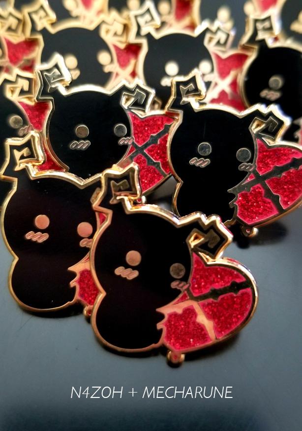 Heartless Glitter Enamel Pin