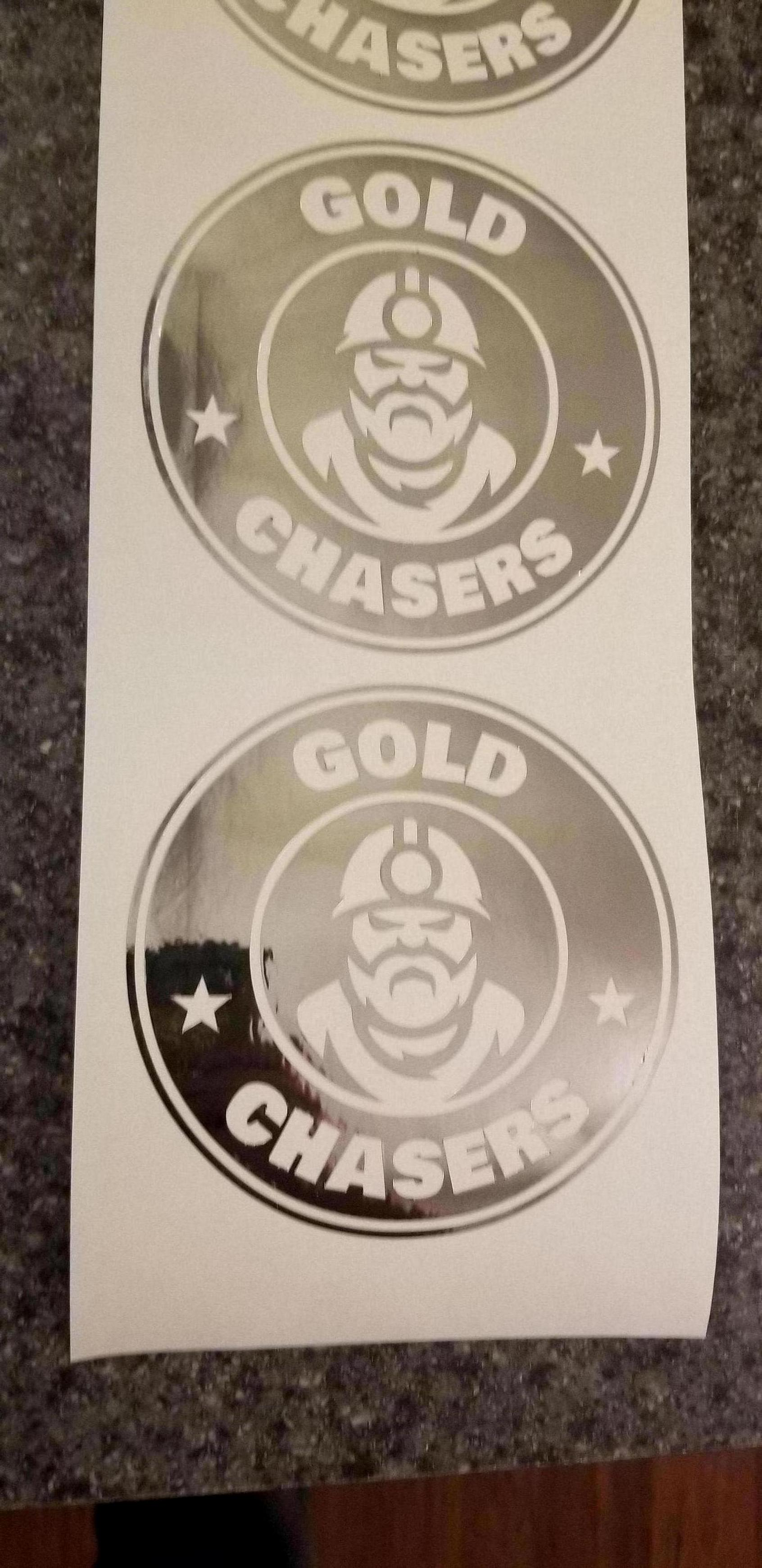 Gold Chasers Logo Sticker Starbucks
