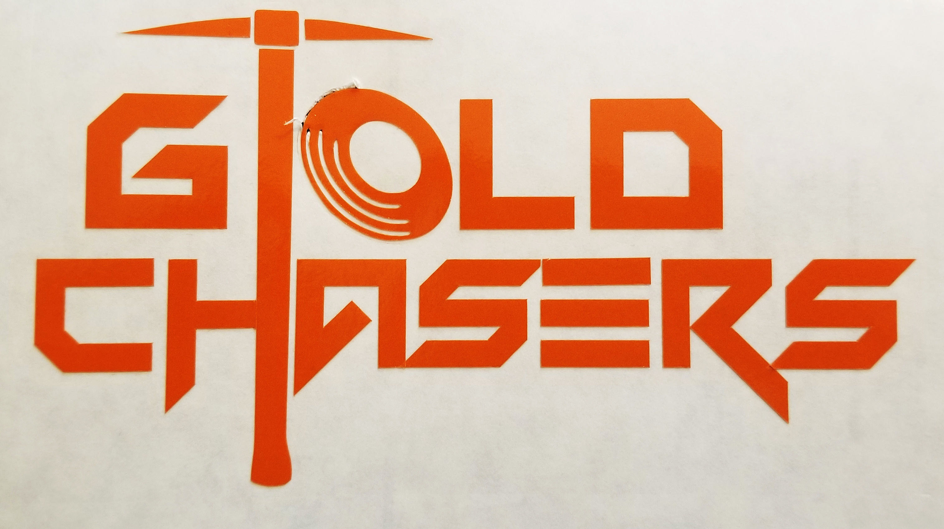 Gold Chasers Logo Sticker