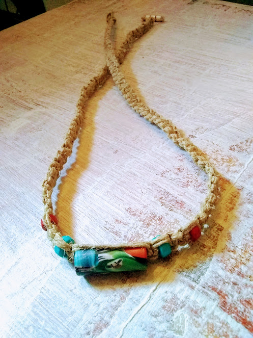 Handmade Hemp Necklace/SOLD