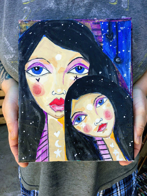 "Daughter- Original Mixed media- 8"" x 10"" Canvas"