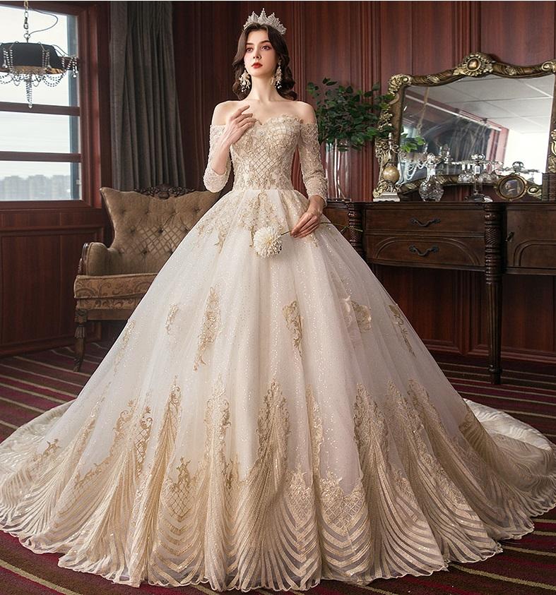 Luxury Vintage Hepburn Dream Empire Wedding Dress