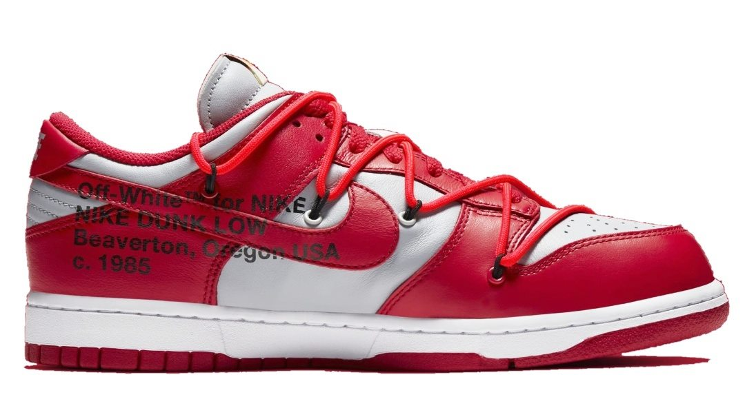 Nike Dunk low offwhite University red
