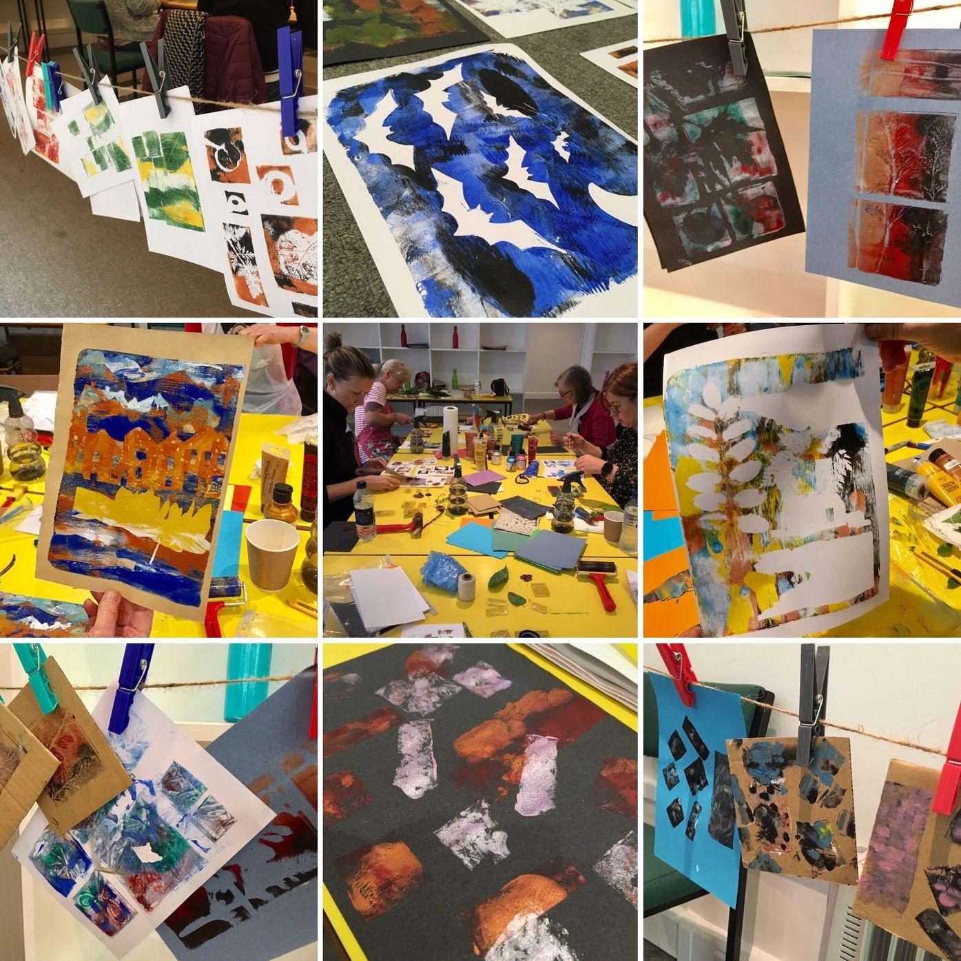 Gel Plate Monoprinting - taster workshop - MerseyMade