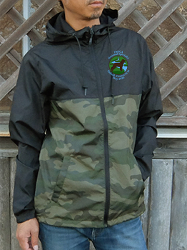 Unisex Lightweight Windbreaker Jacket Embroidered with Small River Logo