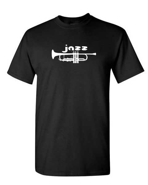 Jazz with trumpet silhouette