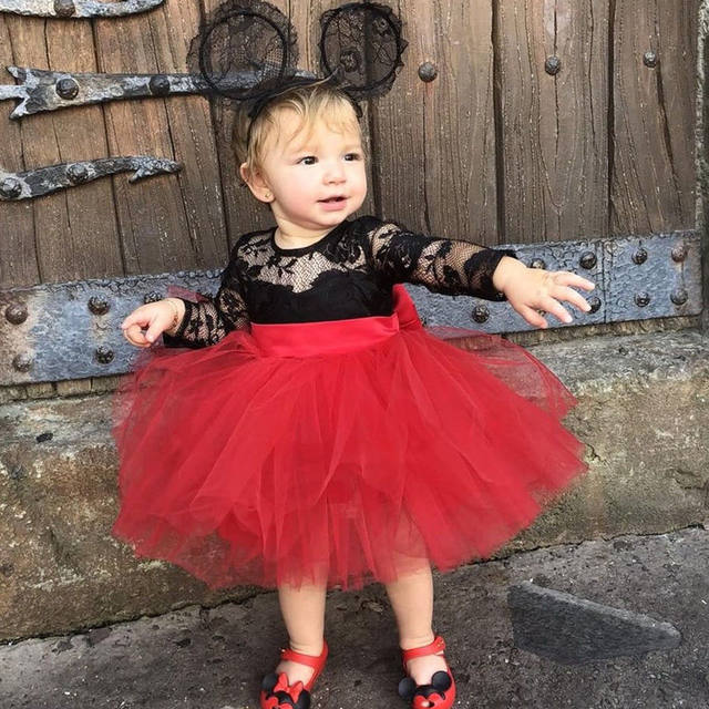 Lace and Mesh Princess Dress For Toddler Girls