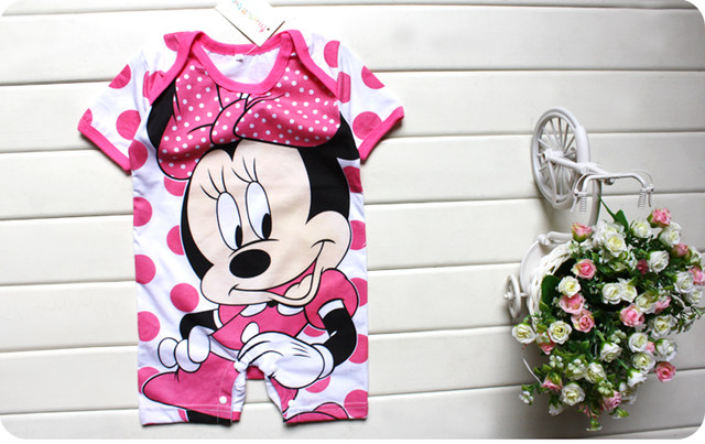 Disney's Mickey And Minnie Print Baby Jumpsuit