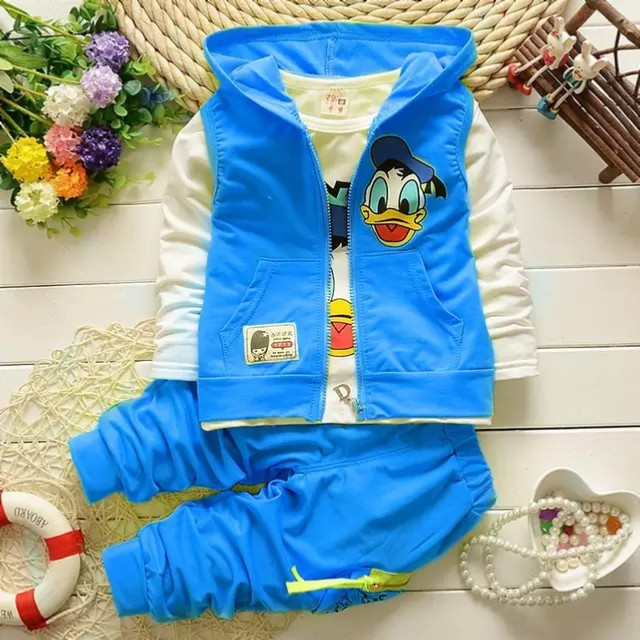 Boy's Donald Duck Print Hoodie Outfit