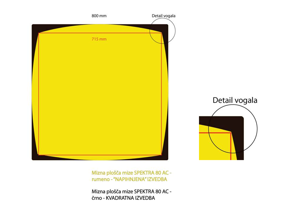 Miza SPECTRA 85x85