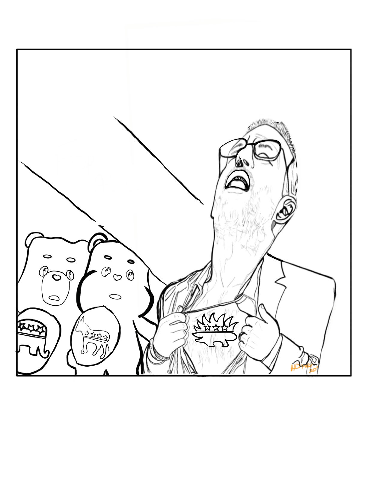 From Meme To White House-The Spike Cohen Coloring Book