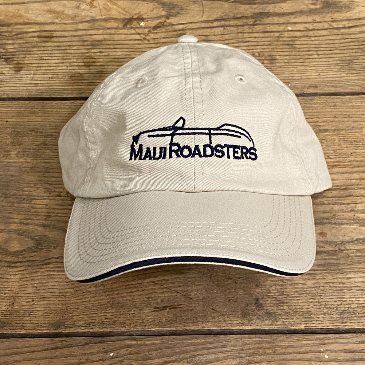 Low Profile Cap - Logo - Stone/Navy