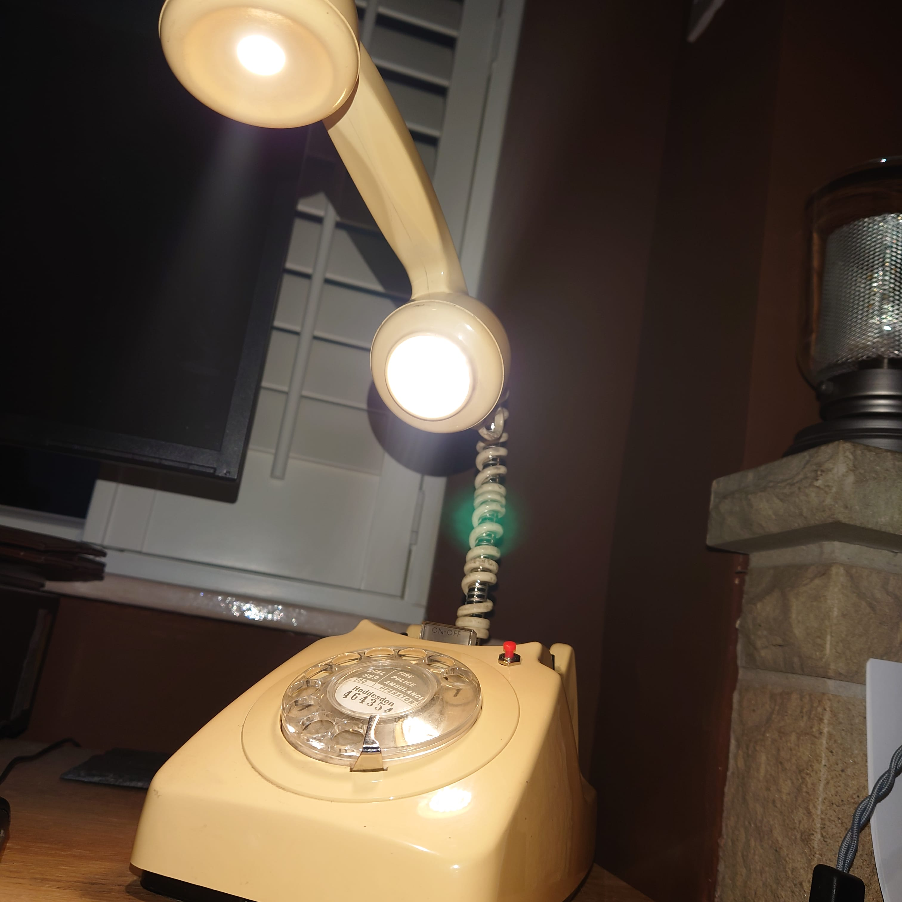 upcycled Blowtorch table lamps in DE5