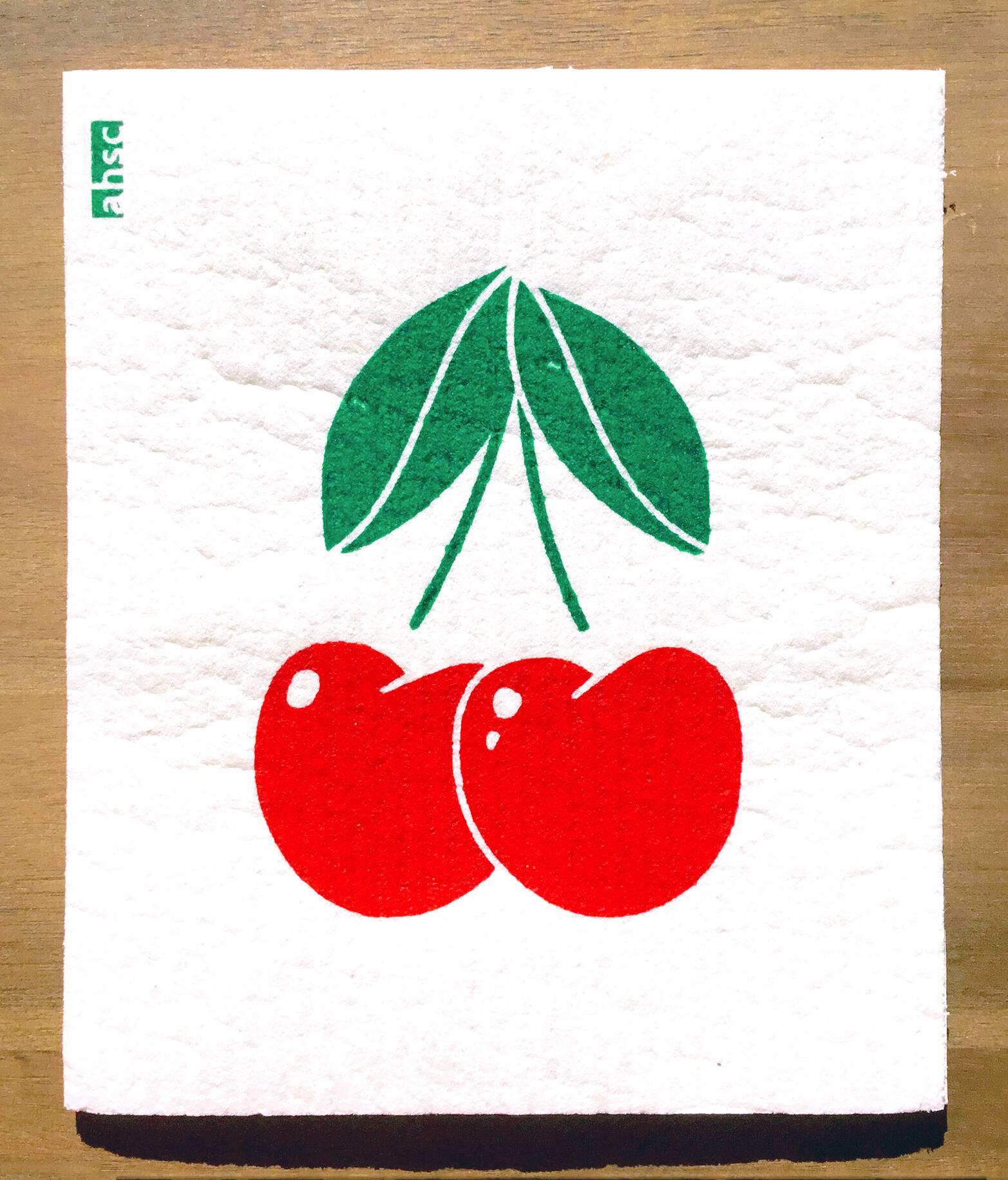 Cherry Eco Dishcloth