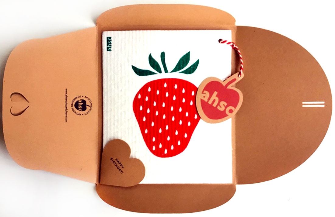 Strawberry Eco Wishcloth