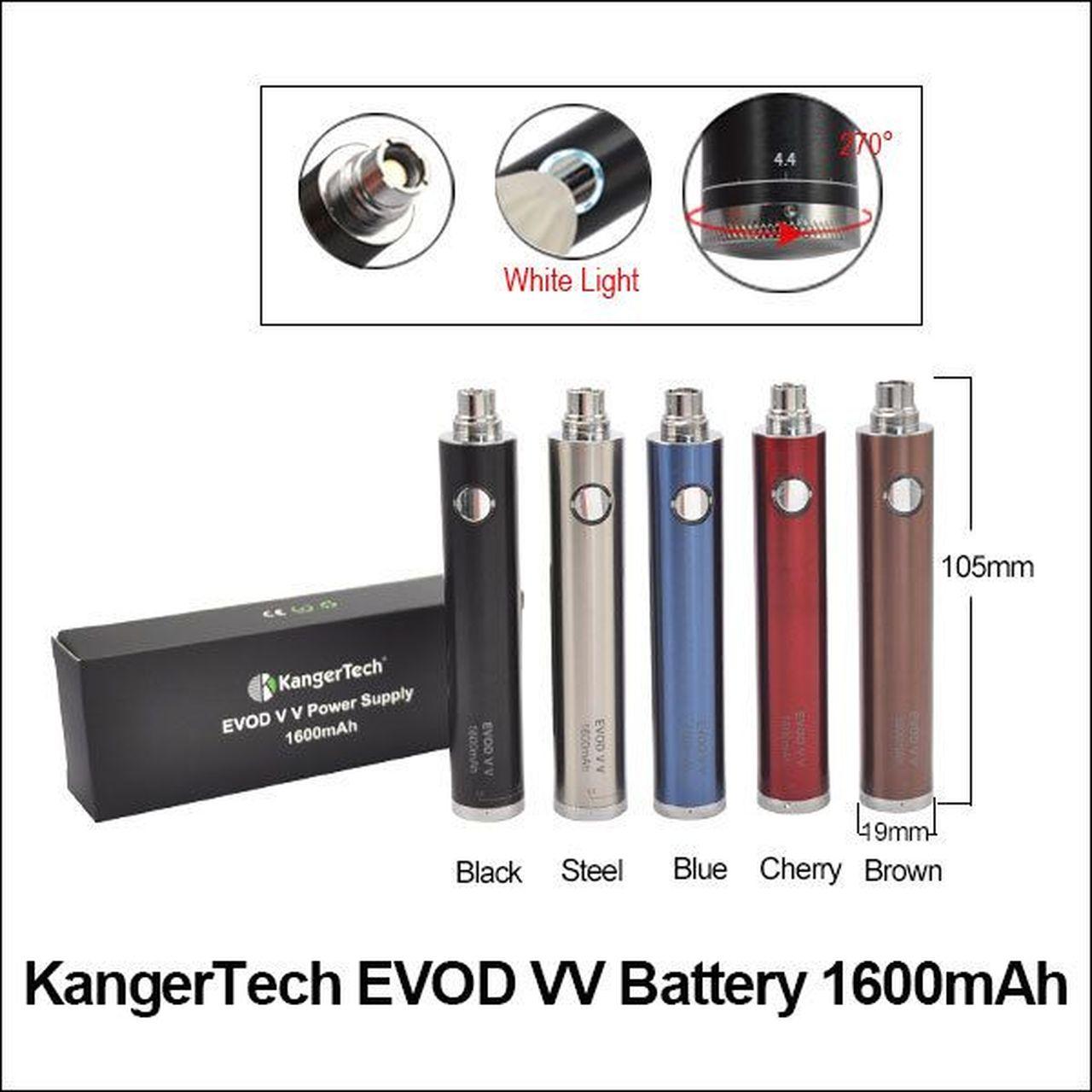 Kanger EVOD VV Battery 1300mah   Dr. Vape - Vape Shop