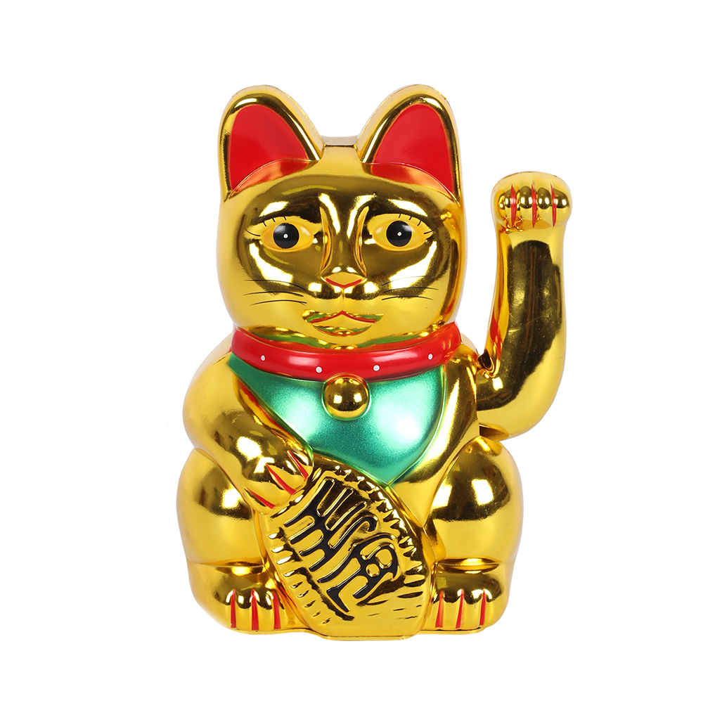 8 Inch Gold Money Cat