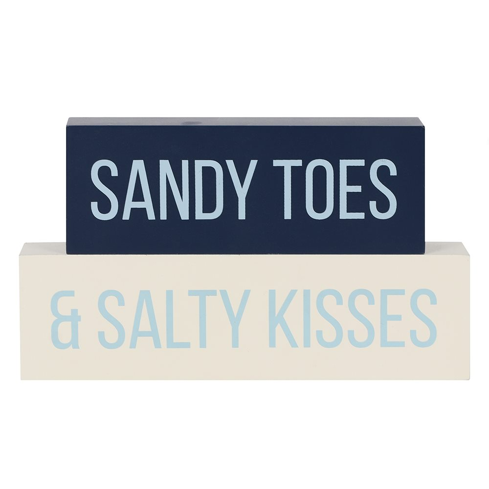 Sandy Toes and Salty Kisses Stacking Blocks