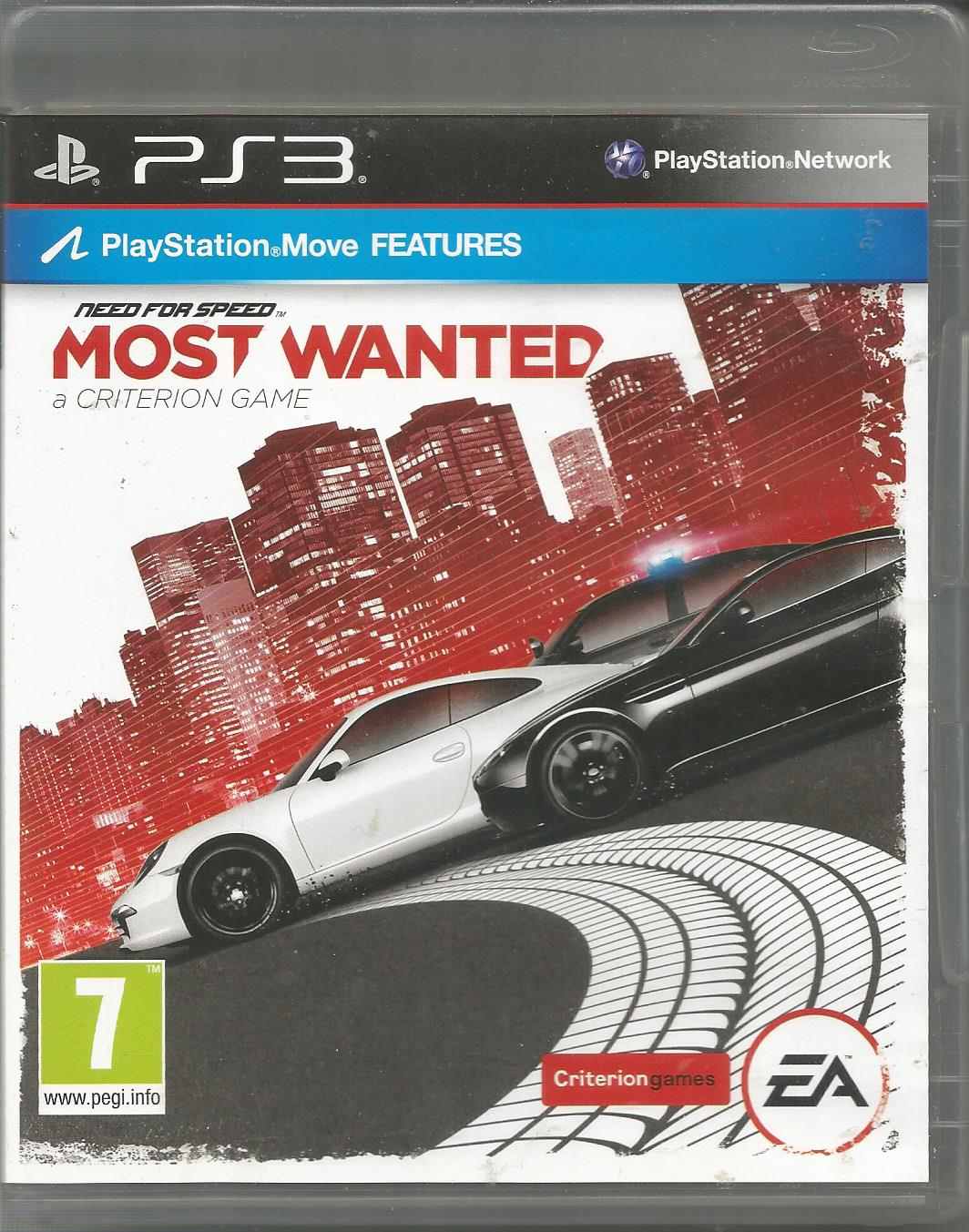 Need For Speed Most Wanted Used Playstation 3