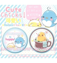 ORIGINAL Happy Chickens [Pack 2 badges]