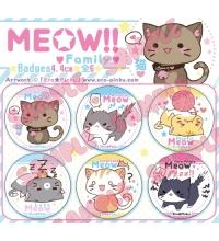 ORIGINAL MEOW!! Family [Pack 6 badges]