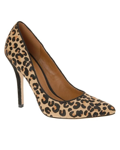 Leopard Print Wedge Shoes