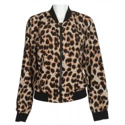 Leopard Print Bomber Ja..