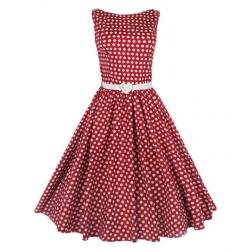 Polka dot red 50's dress
