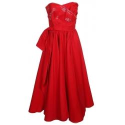 50s Red Prom Dress
