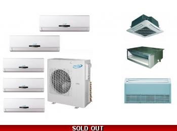 Aircon 21 Seer 5 Zone Mini Split Heat Pump Air Conditioner Amsci4h4s42