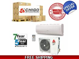 15 Chigo Ductless Mini Split Heat Pump AC System..