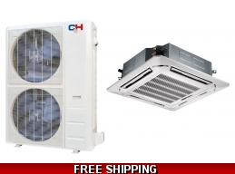 C&H 48000 Btu 16.8 SEER Commercial Grade Ceiling Cassette Heat Pump AC