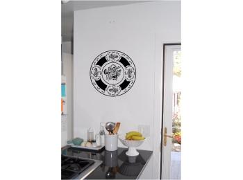 Decorative Plate Wall Sticker Wall Art Kitchen Decor Vinyl Stickers