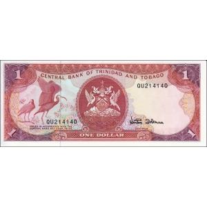 Trinidad and Tobago 1 Dollar 1985 P-36c Sig #6 Unc