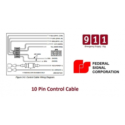 [SCHEMATICS_48EU]  Federal Signal Siren Power Harness 10 Pin Cable PA300 690001 | Federal Pa300 Siren Wiring Diagram |  | 911 Emergency Supply
